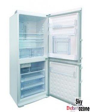 یخچال فریزر پلادیوم سفید چرم درب بار یخساز دستی PD35W