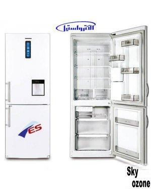 یخچال فریزر الکترواستیل سفید چرم ES20W