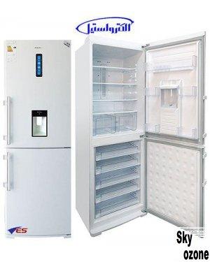 یخچال فریزر الکترواستیل سفید چرم ES34W