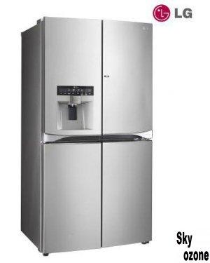 ساید بای ساید LG مدل MDN76,فضای بسیار عریض یخچال (830 میلیمتر),ساید Door-in-Door,کمپرسور اینورتر خطی,مصرف انرژی A,10 سال گارانتی موتور,سیستم عیب یابی ,هوشمند,فیلتر +Hygiene Fresh,طبقه تاشو Folding Shelf,