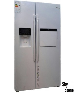 یخچال,فریزر,ساید,بای,ساید,سفید,چرم,الکترو,استیل,ES51W,نمایندگی,فروش,تهران,نوفراست,بدون,برفک,ضد,باکتری,انجماد,سریع,فیلتر,بوگیر,کم,صدا