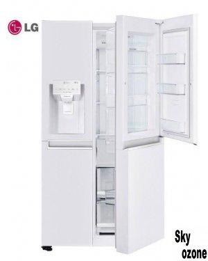 ساید بای ساید LG  مدل SXB53W,ساید بای ساید,کم مصرف,یخساز,28 فوت